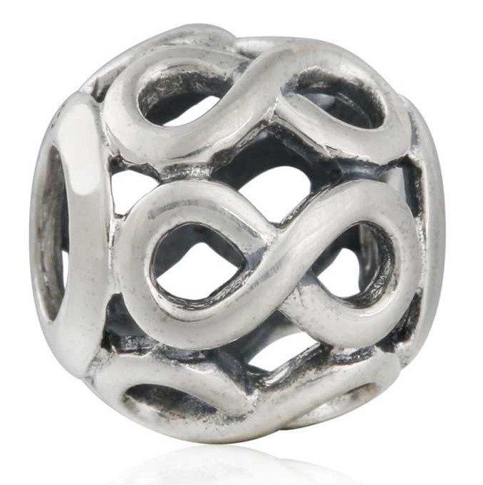 925-Sterling-Silver Infinite Beads For Jewelry