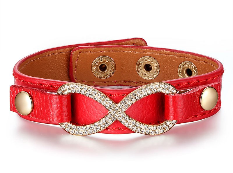 Real Leather Infinity Bracelets