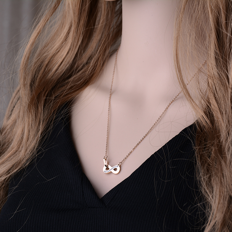 Stainless Steel Infinity Necklace